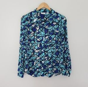 2 for $20 Liz Claiborne blue sheer blouse